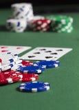 Macro del crisol del póker Imagen de archivo libre de regalías