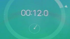 Macro del cronometro di Digital illustrazione vettoriale