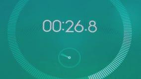 Macro del cronometro di Digital illustrazione di stock