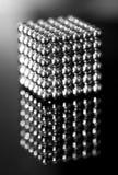 Macro del cubo del metal Fotos de archivo