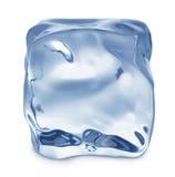 Macro del cubo di ghiaccio Fotografie Stock Libere da Diritti