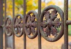 Macro del detalle de la cerca del hierro Fotografía de archivo libre de regalías