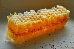 Macro del detalle del panal de la miel Imagenes de archivo