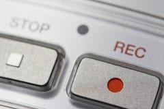 Macro del dittafono digitale Fotografia Stock
