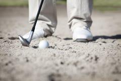 Macro del giocatore di golf in carbonile. fotografia stock