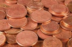Macro del gruppo delle monete Fotografia Stock Libera da Diritti