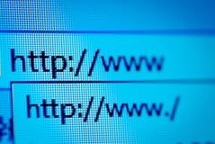Macro del HTTP WWW Fotografie Stock