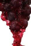 Macro del jugo de uva fotos de archivo libres de regalías