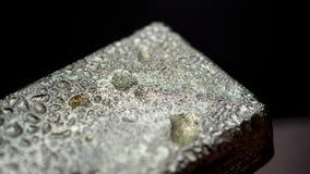 Macro del lingote del metal Foto de archivo