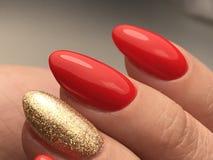Macro del manicure pulito Immagine Stock