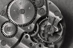 Macro del mecanismo del reloj fotos de archivo libres de regalías