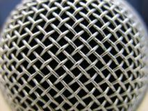 Macro del micrófono foto de archivo