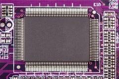 Macro del microchip Imagenes de archivo