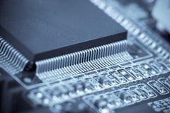 Macro del microchip Imágenes de archivo libres de regalías