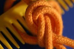 Macro del nodo e del pettine Fotografia Stock Libera da Diritti