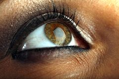 Macro del ojo foto de archivo libre de regalías