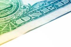 Macro del primer del billete de dólar de los E.E.U.U. uno, 1 usd de billete de banco Imagen de archivo