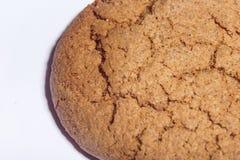Macro del primo piano dei biscotti di farina d'avena Fotografie Stock