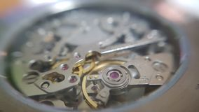 Macro del primo piano dell'orologio fotografia stock libera da diritti