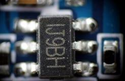 Macro del PWB del smd del microprocesador Imagen de archivo
