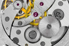 Macro del reloj Imágenes de archivo libres de regalías
