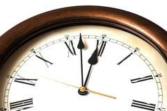Macro del reloj antiguo Foto de archivo libre de regalías