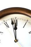 Macro del reloj antiguo Fotografía de archivo