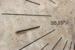 Macro del reloj de sol Fotografía de archivo