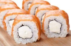 Macro del rollo de sushi Imagen de archivo libre de regalías