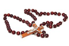 Macro del rosario immagine stock