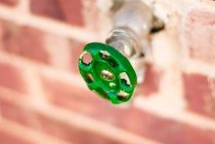 Macro del rubinetto di acqua Fotografia Stock