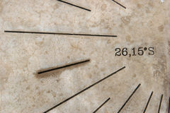 Macro del Sundial Fotografia Stock