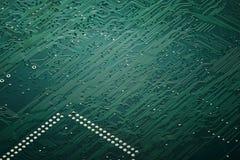 Macro del tablero del circuito integrado imagen de archivo