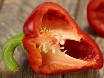Macro del taglio del peperone dolce Fotografia Stock