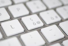 Macro del teclado fotografía de archivo