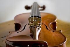 Macro del violino Immagini Stock Libere da Diritti