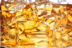 Macro del whisky del ghiaccio Fotografia Stock