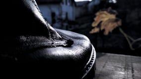 Macro del zapato imagen de archivo