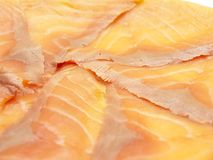 Macro of delicious salmon fillet Stock Image