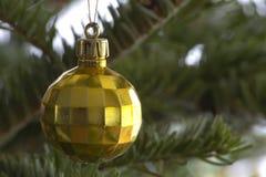 Macro dell'albero di Natale Fotografia Stock