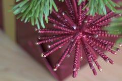 Macro dell'albero di Natale Fotografia Stock Libera da Diritti