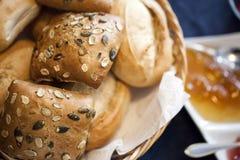 Macro dell'alimento del pane dettagliata Fotografie Stock