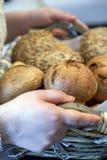 Macro dell'alimento del pane dettagliata Immagini Stock Libere da Diritti