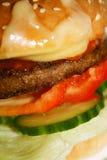 Macro dell'hamburger Immagine Stock Libera da Diritti