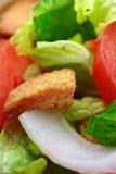 Macro dell'insalata Immagine Stock