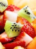 Macro dell'insalata di frutta Immagini Stock Libere da Diritti