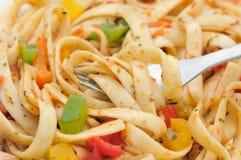 Macro dell'insalata di pasta Immagine Stock Libera da Diritti