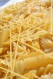 Macro dell'italiano dell'alimento della pasta dell'Italia Immagini Stock Libere da Diritti