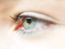 Macro dell'occhio fotografie stock