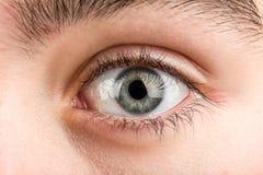 Macro dell'occhio dell'adolescente Fotografia Stock Libera da Diritti
